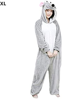 Hnjoymi Christmas Onesie Pajamas, Unisex Cartoon Animal Cosplay Halloween Costume Onesie Pajamas Mouse Pyjamas Costume for Women Men Costume Play