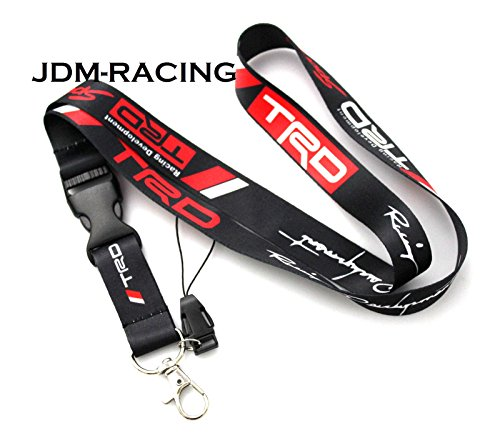 JDM TRD Racing Drift Lanyard Neck Cell Phone Key Chain Strap Quick Release