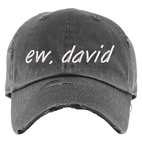 ew, david Hat   Distressed Baseball Cap OR Ponytail Hat, Vintage Dad Hat, Adjustable Cap