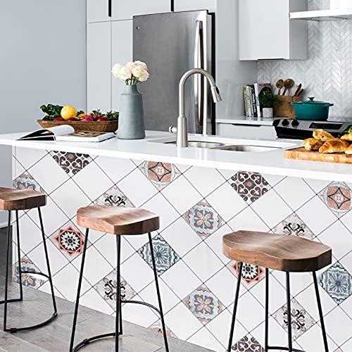 Freshtour Küchenrückwand Folie 61 * 500 cm Fliesenaufkleber Selbstklebende Klebefolie Möbel für Küche, Bad deko, Arbeitsplatte Küche, Fliesen, Küchentapeten Spritzschutz PVC