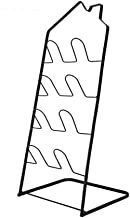 Household Folding 4 Tier Shoe Rack Black Slipper Frame Bathroom Storage Metal Floor Standing Shelf Lightweight (No Need to...