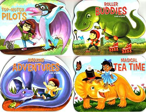 Pop-Up Book - Dinosaurs Adventures - Set of 4 Pop-Up Board Books
