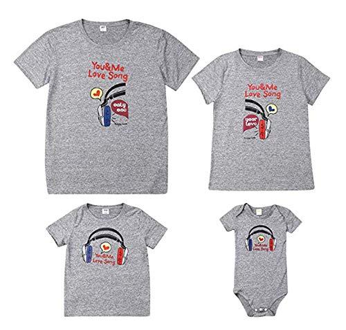 Douleway - Camiseta con estampado de oso para mamá y papá, diseño de dibujos animados