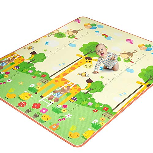 Sale!! WUSHIYU Baby Play Mat Reversible Playmat for Toddlers and Kids Non Toxic Baby Foam Play Mat F...