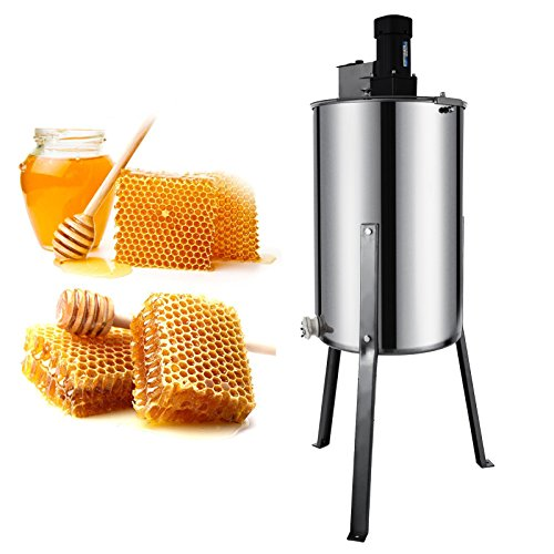 Happybuy Honeycomb Drum Spinner Beekeeping Equipment with Strainer, 2 Frame, Electric Honey...