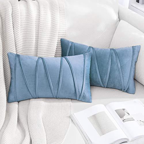 light blue couch pillows - 1