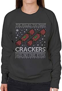 Coto7 Ive Pulled Too Many Crackers Said No One Ever Christmas Knit Pattern Women's Sweatshirt