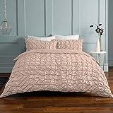 Sleepdown 5056242749714 Suave con Fundas de Almohada (Juego de edredón, Color, Mezcla de algodón, Rosa encarnado, King Duvet Set