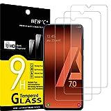 NEW'C 3 Unidades, Protector de Pantalla para Samsung Galaxy A70, Antiarañazos, Antihuellas, Sin...