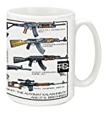 Cuppa Second Amendment Rights 15-Ounce Coffee Mug with AK-47's