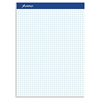 Ampad Evidence Quad Dual-Pad, Quadrille Rule, Letter Size (8.5 x 11.75), White, 100 Sheets per Pad (20-210) (B000JCTH2Q) | Amazon price tracker / tracking, Amazon price history charts, Amazon price watches, Amazon price drop alerts