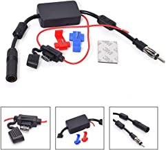 Bingfu Universal Car Stereo FM Radio Antenna Signal Booster Amplifier Amp,12V Power..