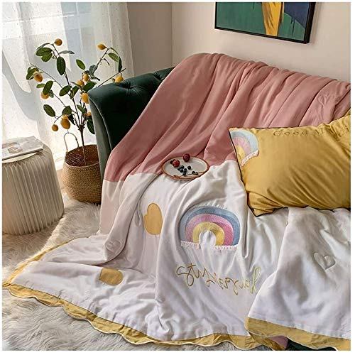 FlowersER Double Duvet 1.5 Tog Cartoon Anime Pattern Quilt Machine Washable Duvets And Sheet Pillowcase Set 200x230cm (Color : B, Size : DOUBLE 200 * 230cm)