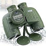 Marine Binoculars with Compass Rangefinder 7X50 Waterproof for Adults BAK4 FMC Floating Binoculars