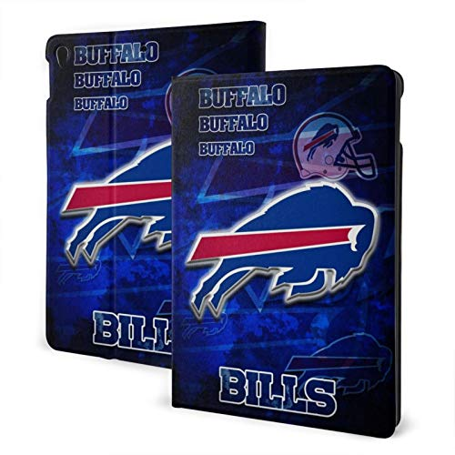 Buffalo Football Bill Slim Lightweight Smart Shell Stand Hard Back Protective Cover Case with Auto Wake/Sleep for Ipad One Size