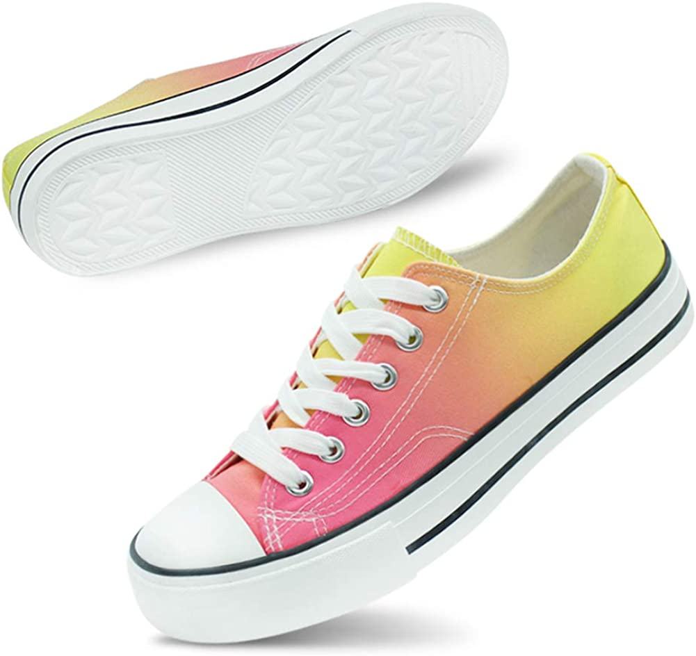 Lifespell Rainbow Fees free!! Canvas Shoe for Max 70% OFF Classic Dye Sneaker Tie Women
