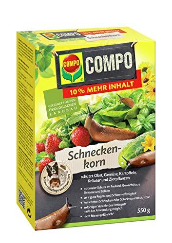 COMPO Schneckenkorn, Streugranulat gegen Nacktschnecken, 550 g