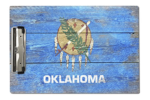 Lantern Press Rustic Oklahoma State Flag (Acrylic Clipboard)