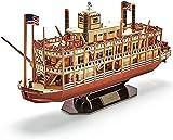 RDJSHOP Puzzle in Legno 3D Kit Modello di Battello a Vapore Mississippi, Kit di Costruzione di Modelli di Barche Rompicapo per Bambini e Adulti Decorazione Domestica e Regali