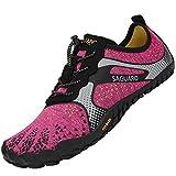 Barefoot Zapatillas de Trail Running Hombre Mujer Minimalistas Zapatillas de Deportes Acuaticos Zapatos de Agua para Playa Beach Surf Yoga, Hm Rosa 38