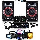 DJ-PLAYER 2 Set 100 W RMS für Einsteiger 11-15 Jahre DJ-PLAYER 2 + Lichtspiel LytOr LED