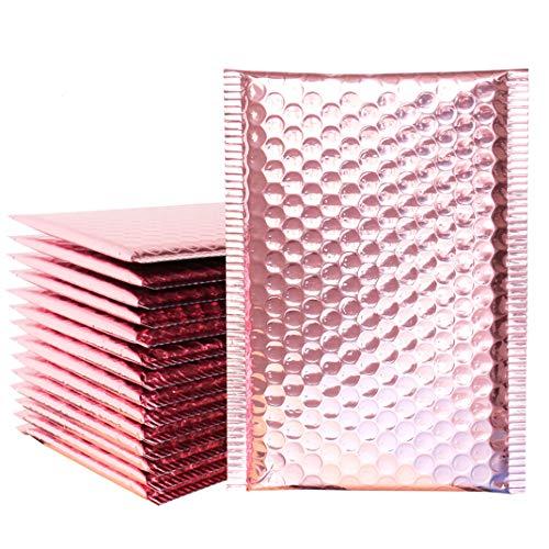 iSuperb 20 Stück Gepolsterte Briefumschläge Seal Bubble Taschen Bubble Versandbeutel Plastik Luftpolstertaschen Bubble Mailer (Pink)