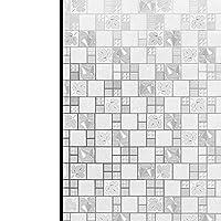 FUFU 窓用フィルム ガラスドアホームハウスの窓のフィルム、プライバシーウィンドウステッカー、3Dパターンシール無しステンドグラスの窓の装飾、アンチUVウィンドウ色合い、 貼り直し可能 シン (Size : 30×200CM/11×78IN)