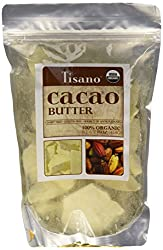 100% Organic Cacao Butter 16oz by Tisano : Baking Cocoa