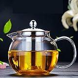 OBOR Glass Teapot with Removable Infuser, Stovetop Safe Kettle, Blooming and Loose Leaf Tea Maker Set,Glass Bottle Pitcher for Hot/Iced Tea 44oz/1300ml