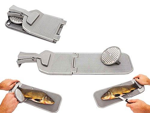 Jaxon Faltbares Filetierbrett mit Edelstahl Fisch-Entschupper