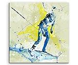 Biathlon V 60x60cm SPORTBILDER Paul Sinus Art Splash Art