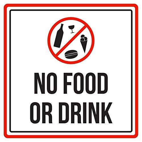 Maureen52Dorothy No Food or Drink Pool Spa Sicherheit Warnung Schild Sticker Vinyl Quadratischen zudem, Label Aufkleber Sqaure 12x 12