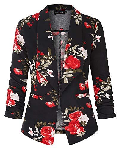 Women's One Button Work Suit Office Lady Blazer Jacket Skirt Suit Set