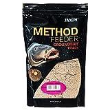 Jaxon Grundfutter Angelfutter Lockfutter Method Feeder Ready GROUNDBAIT 750g (Knoblauch/FM-ZR17)