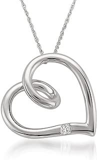 10k White Gold Princess-cut Diamond Accent Heart Pendant Necklace (H-I, I2-I3)