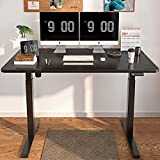 MAIDeSITe Electric Height Adjustable Computer Desk, Ergonomic Memory Controller, Standing Height Adjustable Desk Top with 55 x 28 Inches Top Black+Black