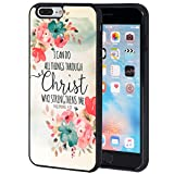 iPhone 7 Plus Case,iPhone 8 Plus Case,AIRWEE Slim Anti-Scratch Shockproof Silicone TPU Back Protective Cover Case for Apple iPhone 8 Plus/iPhone 7 Plus,Christian Quotes Bible Verses Philippians 4:13