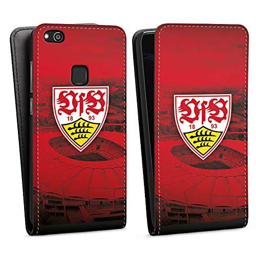 DeinDesign Flip Case kompatibel mit Huawei P10 lite Tasche Hülle VfB Stuttgart Stadion Offizielles Lizenzprodukt