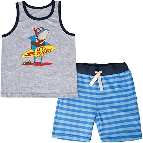 CARETOO Sommer Kleidung Set, Baby Jungen Kurzarm T-Shirt Tops + Shorts Kleidung Set 9Monate - 3Jahre alt