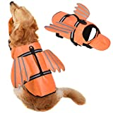 Dog Life Jacket, Unique Angel Wings Design Pet Puppy Life Vest for Small Size Dogs, Dog Lifesaver Preserver with Handle&Reflective, for Swim, Pool, Beach, Boating