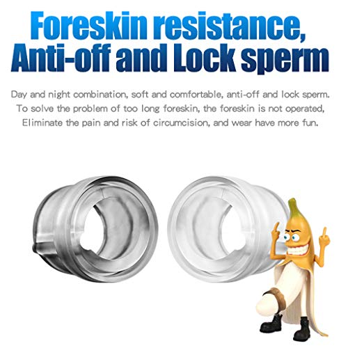 Qingchin Male Foreskin Resistance Complex Ring Sex Time Delay Lock Phimosis Pen is Ring