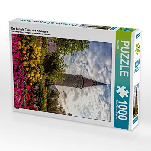 CALVENDO Puzzle Der Schiefe Turm von Kitzingen 1000 Teile Lege-Größe 48 x 64 cm Foto-Puzzle Bild von Haenson