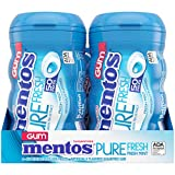 Mentos Pure Fresh Sugar-Free Chewing Gum with Xylitol, Fresh Mint, 50 Piece Bottle (Bulk Pack of 4)