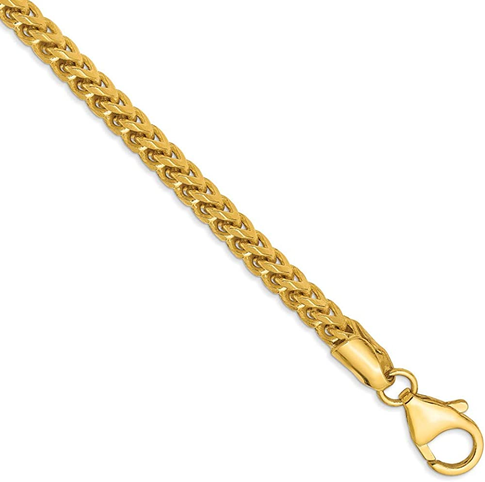 Solid 14k Yellow Gold Big Heavy Product Necklace - 3mm Franco Chain with Under blast sales