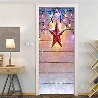 BOXIANGY ファンタジークリスマスプランクランタン寝室のドアの装飾ステッカークリエイティブDIY粘着壁壁画壁紙キッズルーム用