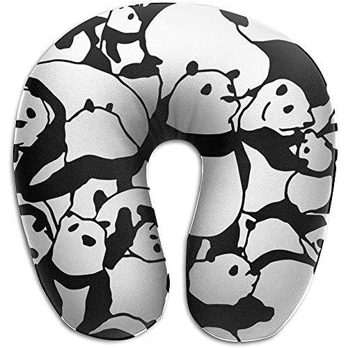 Nackenkissen,Nettes Reizendes Panda-Dekoratives Nackenkissen Für Laufendes Kletterndes Reisen