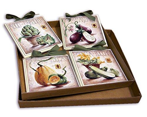 CREAZIONI ANTART Idea Regalo Set Quadretti Shabby Chic Country ARREDAMENTI Cucina 15x15 (1)