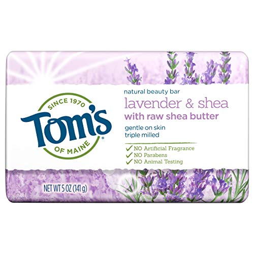 Tom's of Maine, Natural Bar Soap - Lavender & Shea with Raw Shea Butter, 5 Ounce