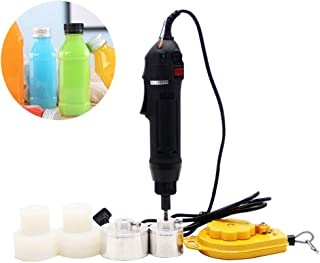 CGOLDENWALL Large Torque Handheld Electric Capping Machine 10-50mm Cap Sealer Sealing Machine Handheld Wearable Electric Sealing Bottles and Packaging Equipment Lid Tightener