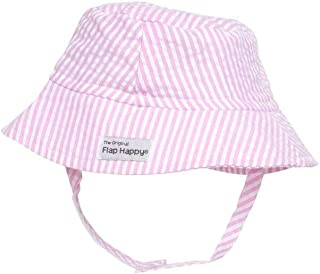UPF 50+ Bucket Hat | Pink Stripe Seersucker X-Large